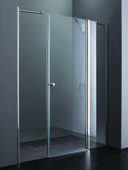 Душевая дверь в нишу Cezares Elena W B11 90/80 C Cr маленькая ванная комната зеленая